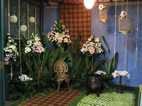 Kain Batik Melati Malam dekorasi perkawinan amagus flora dekorasi siraman