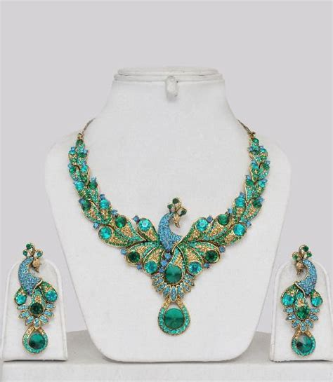 Buy Handcrafted Jewelry - peacock pattern handmade jewelry peacock design