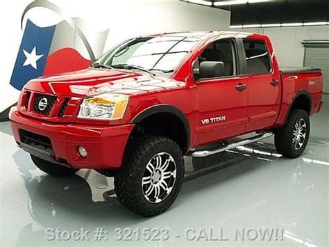 how cars run 2011 nissan titan engine control sell used 2011 nissan titan pro 4x crew lifted 4x4 20 quot wheels 52k texas direct auto in stafford