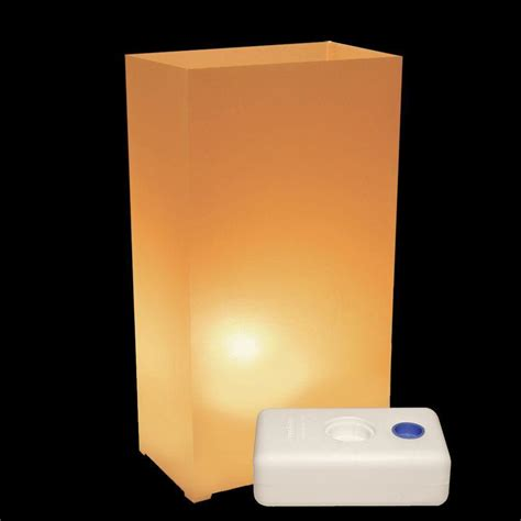 lumabase electric luminaria kit in tan with lumabases 10