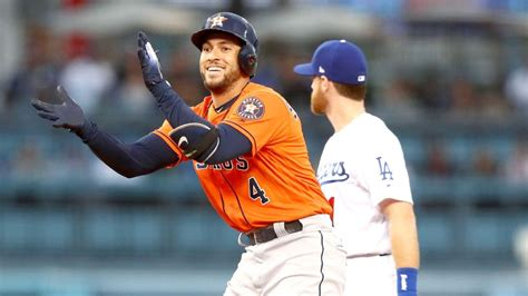 george springer of the houston astros the record for