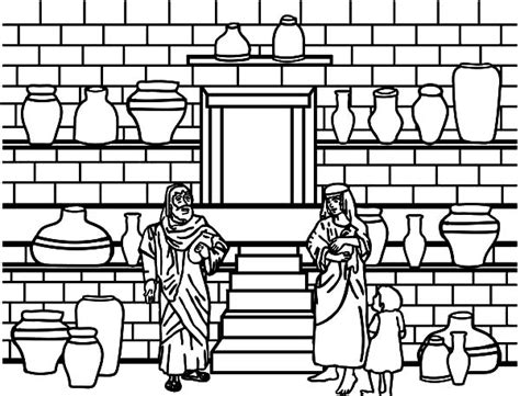 Elisha And The Jar Of Oil Coloring Pages Bulk Color