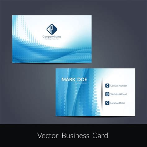 Blue Business Card Template Free by Blue Color Business Card Template Vector Free