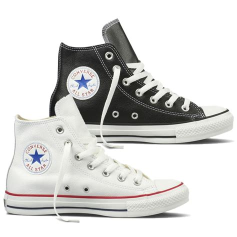 converse ct hi trainers boots leather uppers black