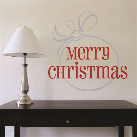 merry christmas large ornament wall quotes decal wallquotescom