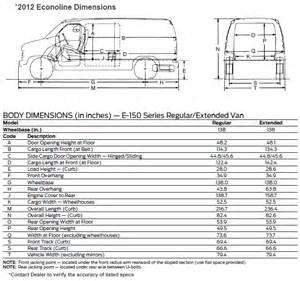 Ford Cargo Dimensions Hiller Ford 2012 Ford Econoline Vans E150 E250 E350
