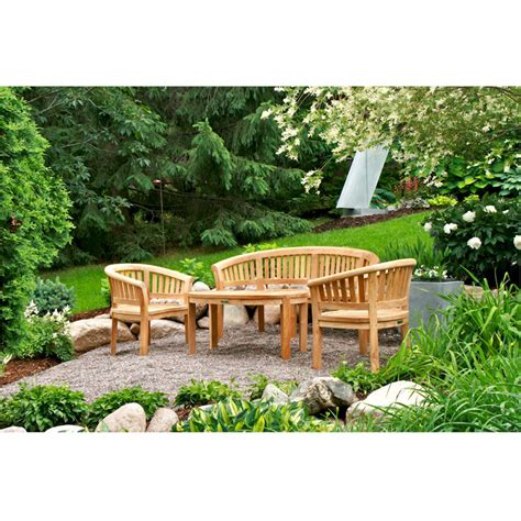 curved patio furniture curved patio set from teak