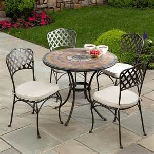 36 quot asti marble mosaic dining by alfresco home patio