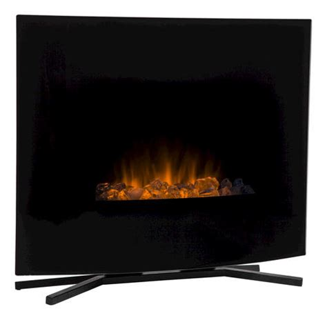 hometech 24 quot wall mount free standing electric fireplace