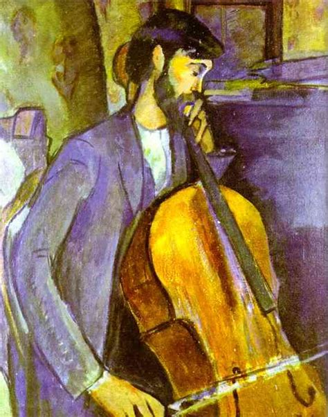 popular artwork study for the cellist painting by amedo modigilani