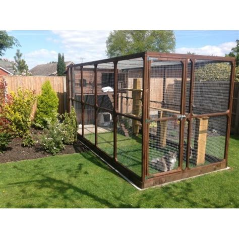 outdoor runs large cat run and cat house spacious outdoor garden run for cats