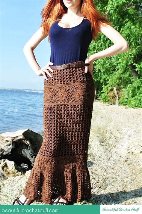 7 Gorgeous Maxis From Free by Crochet Maxi Skirt Free Pattern Beautiful Crochet Stuff