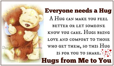 how to give a comforting hug daveswordsofwisdom com everyone needs a hug
