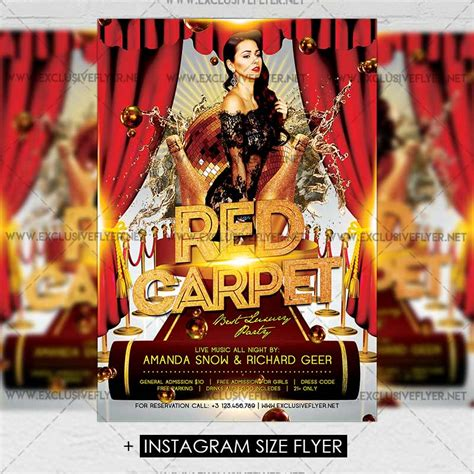 red carpet premium a5 flyer template exclsiveflyer