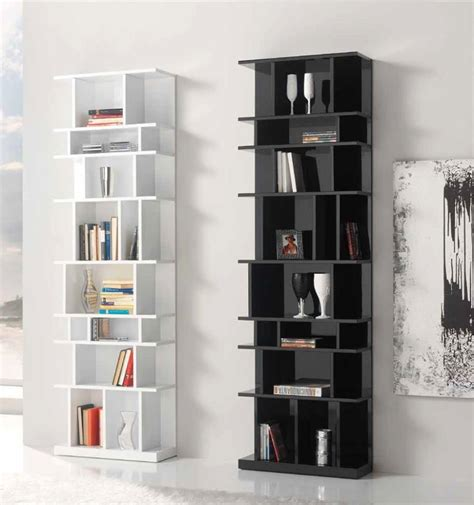 The Appeal Of The Modern Wall Bookcases High Gloss White Bookcase