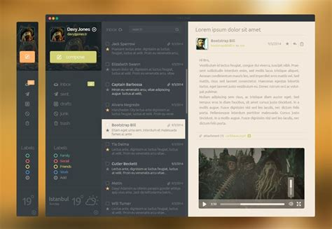 50 Fantastic Freebies For Web Designers October 2014 Webdesigner Depot Mail App Templates