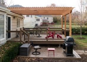 Pergola Over Deck by Boothe Cedar Pergola Over Composite Deck Traditional