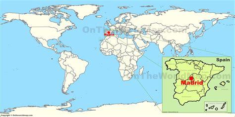 madrid spain on world map madrid world map factsofbelgium