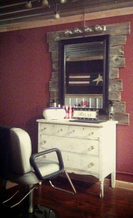 Diy Home Salon Ideas Rustic Salon Station