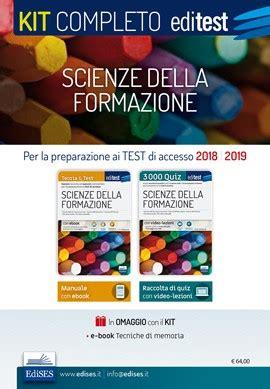 test scienze della formazione editest test di ammissione scienze della formazione