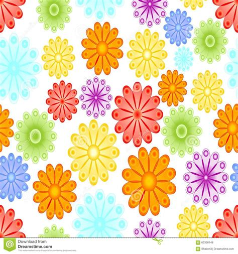 Artistic Drapery Cheerful Spring Background With Abstract Flower Motif