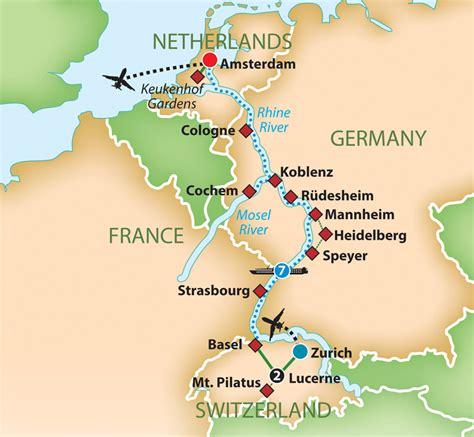 map netherlands germany switzerland mayflower tours