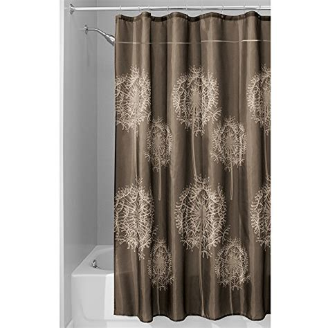 shower curtain 72 x 84 interdesign dandelion shower curtain 72 x 84 inch cocoa