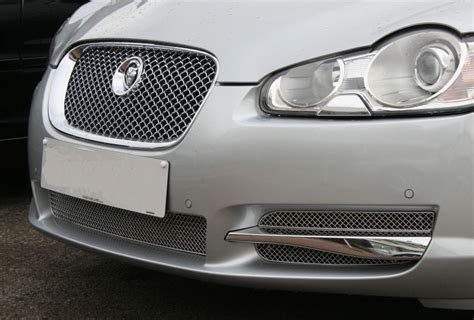 jaguar grill woven lower mesh grill set jaguar xf lower mesh grill