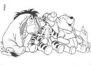 winnie pooh friends star gazing coloring pages hellokids
