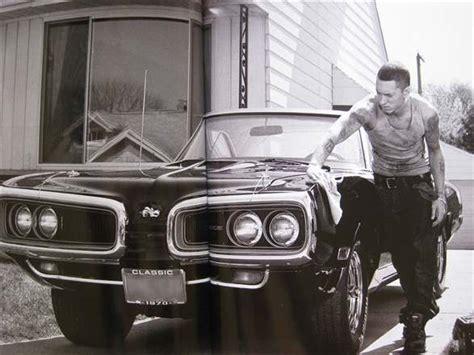 eminem cars eminem polishing his dodge car images on