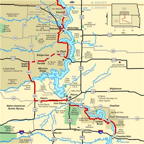 american scenic byway map american scenic byway south dakota section map