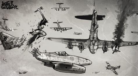 B 17 Sketches by B 17 Bomber Weasyl
