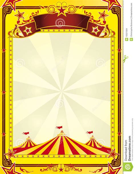 Big Top Circus Flyer Stock Vector Image Of School Star 10221584 Circus Poster Template Free