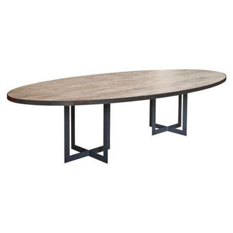 table a manger bois metal 926 les 25 meilleures id 233 es de la cat 233 gorie table ovale sur