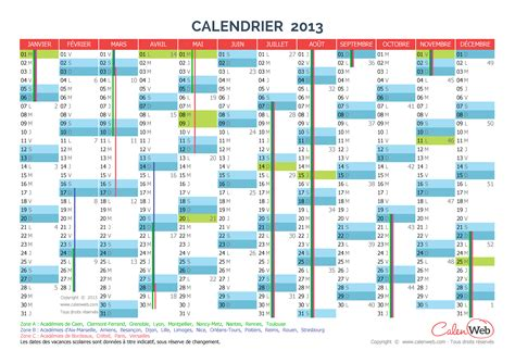 I Calendrier 2013 Calendrier Annuel 233 E 2013 Avec Jours F 233 Ri 233 S Et