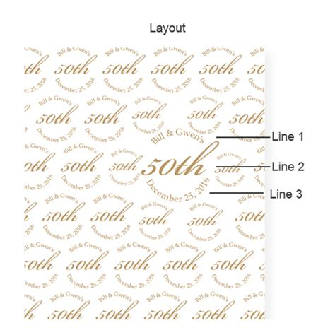 Wedding Backdrop Layout by 50th Wedding Anniversary Personalized Photo Backdrop