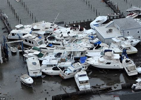 boat crash long beach superstorm sandy devastation seen from above as obama