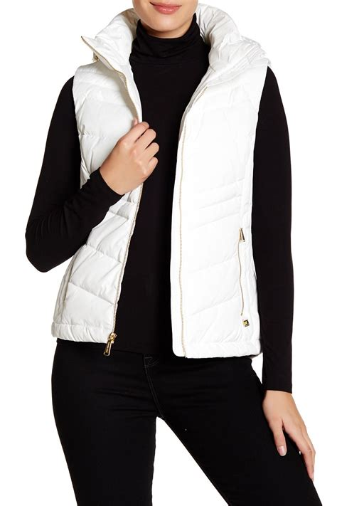 White Quilted Vest by Michael Kors Quilted Removable Vest In White Lyst