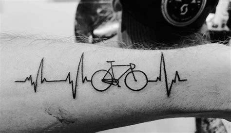 heartbeat bike tattoo 32 awesome bicycle tattoos