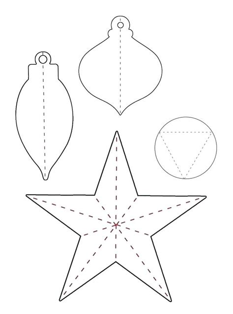Paper Ornament Template Pattern To Make Handmade Ornaments Free Felt Christmas Decorations Paper Ornaments Templates