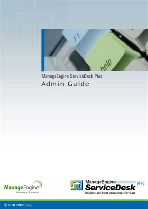 Manageengine Service Desk Plus by Manageengine Servicedesk Plus Admin Guide