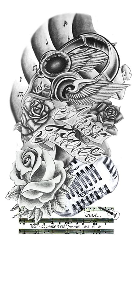 music art tattoo designs forever by mikey121101 on deviantart