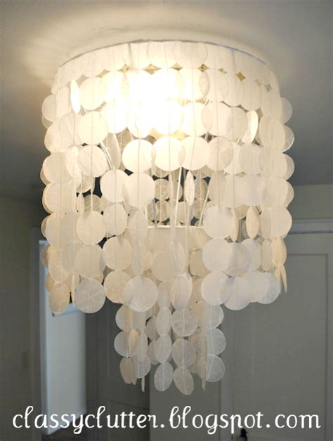 Diy Capiz Chandelier diy capiz shell chandelier for 10 clutter