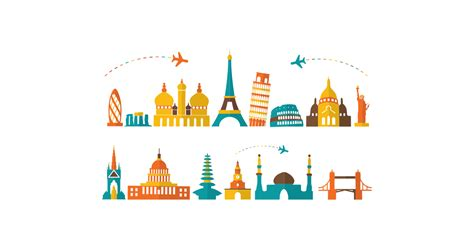 popular tourist destinations  vector  png
