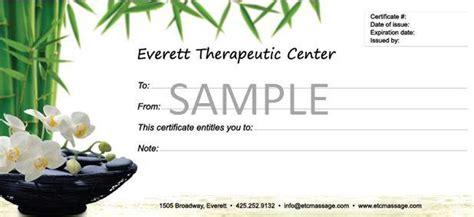 massage gift certificate template editable