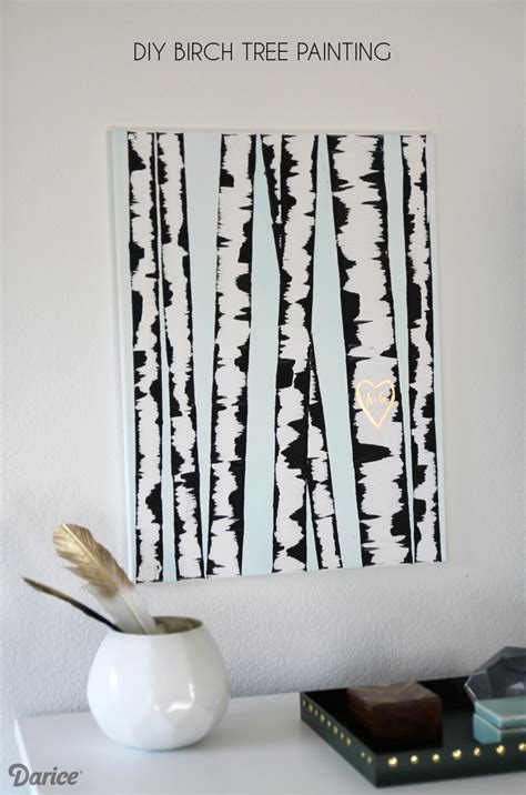 how to do wall painting designs yourself diy wall art birch tree painting tutorial darice