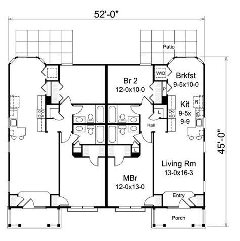 multi family house plans duplex ranch traditional multi family plan 95863 ranch duplex