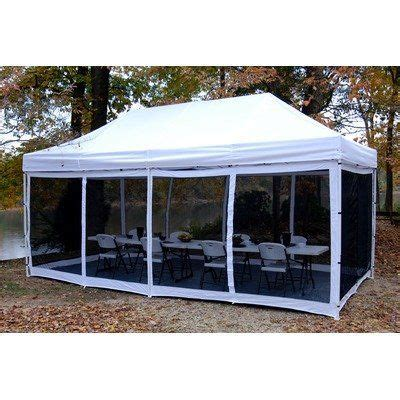 instant up screen house with awnings king canopy epa1pbs20wh 10 feet by 20 feet bug screen room