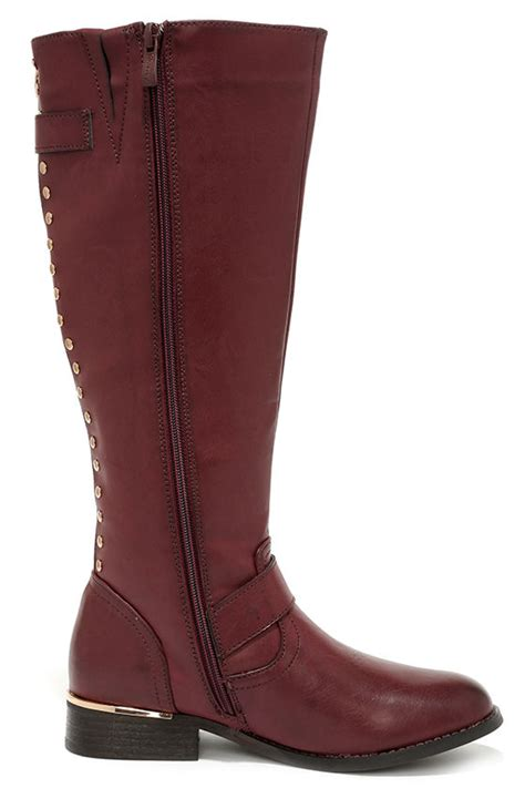 knee high burgundy boots burgundy boots knee high boots boots 73 00