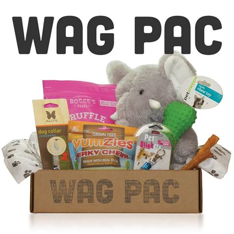 monthly subscription boxes for dogs wag pac subscription box subscription box
